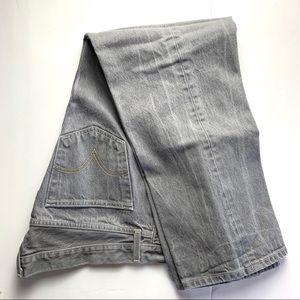 Men's Levi's 501 gray button fly jeans, 38x30